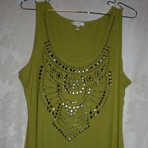 Cache Bling Tank Top Size XL